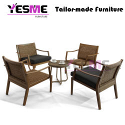 High Quality Teak Wood Outdoor Furniture Rattan Chair Table