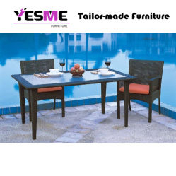 Modren Patio Garden Table Dining Set Rattan Outdoor Furniture