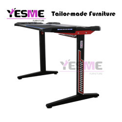 Custom PC Computer Gaming Desk Table Modern Appearance Also with LED Lights Function for Home and Office Furniture Oed/ODM/Obm Welcome