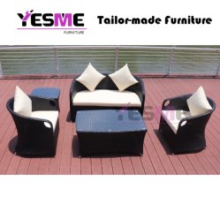 High Quality European Leisure Outdoor Rattan Furniture Wicker Garden Sectional Sofa