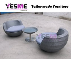 New Design Hot Selling Outdoor Aluminum Beach Furniture Wicker Rattan Round Sofa