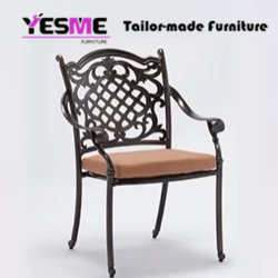 Cast Aluminium Dining Table and Chair Outdoor Garden Hotel Leisure Furniture