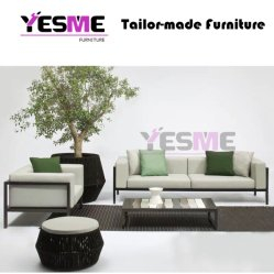 Modern Table and Chairs Aluminum Sofa Set Outdoor Garden Hotel Leisure Furniture