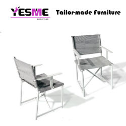 New Design Kd Textile Dining Set Outdoor Sling Stackable Chair Sling Chair Home Hotel Garden Furniture