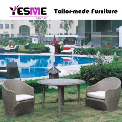 Outdoor Dining Set with Cushion Dining Fabric Chair with Garden Woodendining Table