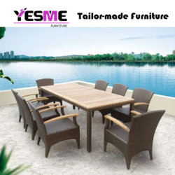 Modern Hotel Home Outdoor Rattan Chair/Desk Leisure Garden Furniture/ Rattan Dining / Outdoor Furniture / Wicker Furniture