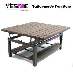 Outdoor Teak Table Hotel Garden Retractable Table