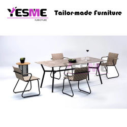 Patio Dining Set with Cushion Outdoor Dining Chair Garden Coffee Table Rattan Wicker Chair Club Wicker Chair Furniture