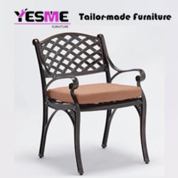 Cast Aluminum Dining Table and Chair Outdoor Garden Backyard Furniture Patio Furniture Hotel Furniture