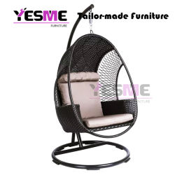 Modern Outdoor Living Room Rocking Baskets Wicker Rattan Hanging Chair