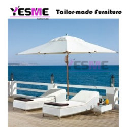 Outdoor Beach Garden Sun Loungers Daybed Rattan Furniture