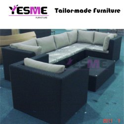 Outdoor Furniture Hotel Poolside Wicker Lounge Sofa