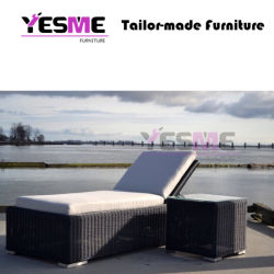 Garden Furniture Outdoor Rattan Sunbed Lounge Daybed Outdoor Chaise Lounge