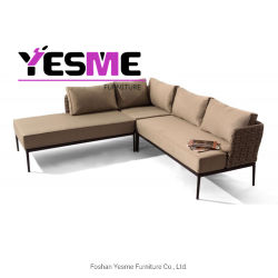 Half Round PE Rattan Sofa Set Outdoor Furniture
