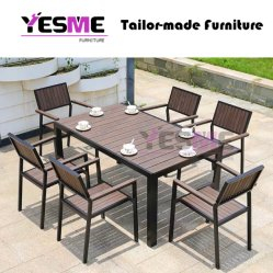 New Design Home/Hotel Leisure Garden Outdoor Modern Dining Set Furniture Patio Modern Waterproof Aluminum Table and Chairs