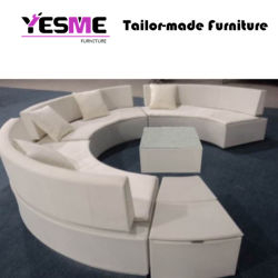 Fabric Round Shape Booth Seating Sofas for Hotel Garden