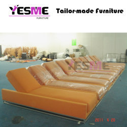 Outdoor Beach Poolside Garden Hotel Sun Loungers Leather Daybed