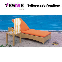 Outdoor Garden Hotel Furniture Rattan Wicker Sunbed Lying Bed