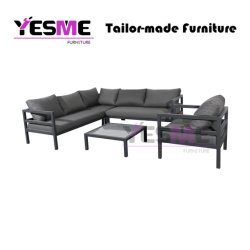 Modern Table and Chairs Aluminum Sofa Set Garden Outdoor Hotel Leisure Furniture