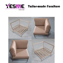 Chinese Modern Outdoor & Indoor Powder Coating Aluminum Sofa Set Furniture for Garden Hotel Pool Side